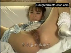 Young japanese babe roughly fucked hard