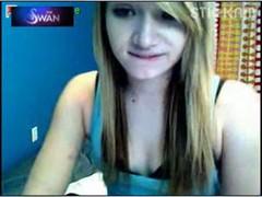 18 teen se mostrando na webcam