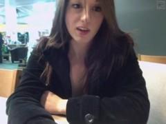 Sweet camgirl masturbates in public toilet part 3 - getmyCam.com
