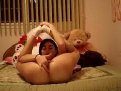 Teen masturbate homemade