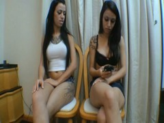 Spit Twins Brazilians Girls
