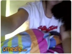 Omegle asian girl strips and play with pussy